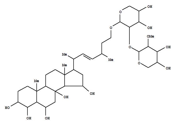 112058-00-1,27-Norergost-22-ene-3,4,6,8,15-pentol,26-[[2-O-(2-O-methyl-b-D-xylopyranosyl)-b-D-xylopyranosyl]oxy]-, (3b,4b,5a,6a,15b,22E,24x)- (9CI),PlacentosideA