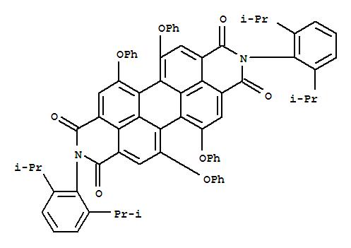 Molecular Structure of 112100-07-9 (Anthra[2,1,9-def:6,5,10-d'e'f']diisoquinoline-1,3,8,10(2H,9H)-tetrone,2,9-bis[2,6-bis(1-methylethyl)phenyl]-5,6,12,13-tetraphenoxy-)