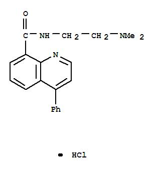 113431-36-0,8-Quinolinecarboxamide,N-[2-(dimethylamino)ethyl]-4-phenyl-, hydrochloride (1:1),8-Quinolinecarboxamide,N-[2-(dimethylamino)ethyl]-4-phenyl-, monohydrochloride (9CI)