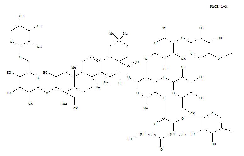 113900-79-1,Olean-12-en-28-oicacid, 3-[(6-O-a-L-arabinopyranosyl-b-D-glucopyranosyl)oxy]-2,16,23-trihydroxy-,O-D-apio-b-D-furanosyl-(1®4)-O-b-D-xylopyranosyl-(1®4)-O-6-deoxy-a-L-mannopyranosyl-(1®2)-O-[b-D-glucopyranosyl-(1®3)]-6-deoxy-4-O-[16-hydroxy-1,9-dioxo-2-(b-D-xylopyranosyloxy)hexadecyl]-b-D-galactopyranosyl ester, (2b,3b,4a,16a)- (9CI),CrocosmiosideC