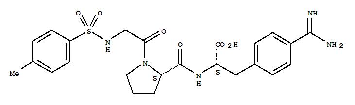 115160-14-0,L-Phenylalanine,4-(aminoiminomethyl)-N-[1-[N-[(4-methylphenyl)sulfonyl]glycyl]-L-prolyl]- (9CI),