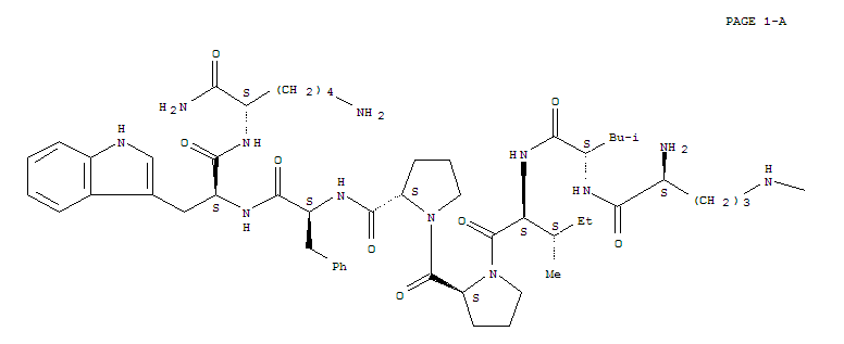 115722-24-2,L-Lysinamide,L-arginyl-L-leucyl-L-isoleucyl-L-prolyl-L-prolyl-L-phenylalanyl-L-tryptophyl-(9CI),