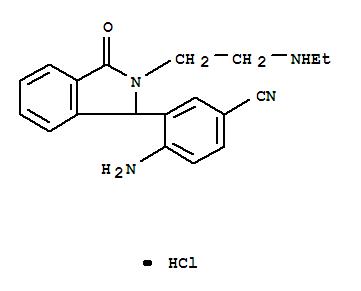 116870-96-3,Benzonitrile,4-amino-3-[2-[2-(ethylamino)ethyl]-2,3-dihydro-3-oxo-1H-isoindol-1-yl]-,hydrochloride (1:1),Benzonitrile,4-amino-3-[2-[2-(ethylamino)ethyl]-2,3-dihydro-3-oxo-1H-isoindol-1-yl]-,monohydrochloride (9CI)