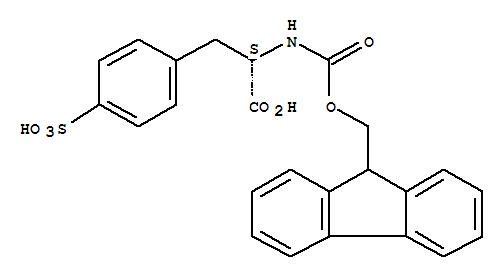 Molecular Structure of 138472-22-7 (L-Phenylalanine,N-[(9H-fluoren-9-ylmethoxy)carbonyl]-4-sulfo-)