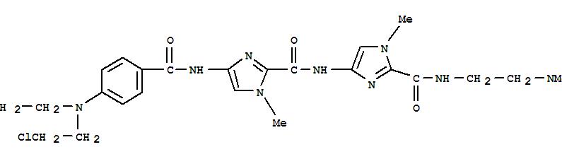 147056-64-2,1H-Imidazole-2-carboxamide,4-[[4-[bis(2-chloroethyl)amino]benzoyl]amino]-N-[2-[[[2-(dimethylamino)ethyl]amino]carbonyl]-1-methyl-1H-imidazol-4-yl]-1-methyl-,4-[[4-[[4-[bis(2-chloroethyl)amino]benzoyl]amino]-1-methyl-imidazole-2 -carbonyl]amino]-N-(2-dimethylaminoethyl)-1-methyl-imidazole-2-carboxa mide