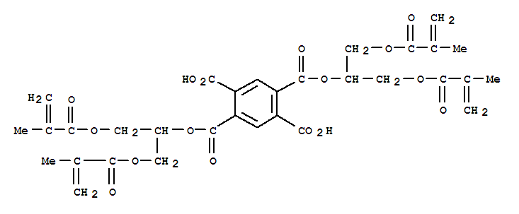 CAS NO:148019-46-9 1,2,4,5-Benzenetetracarboxylicacid,1,4-bis[2-[(2-methyl-1-oxo-2-propen-1-yl)oxy]-1-[[(2-methyl-1-oxo-2-propen-1-yl)oxy]methyl]ethyl]ester Molecular Structure