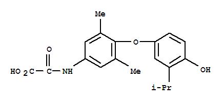 Molecular Structure of 156740-30-6 (Acetic acid,2-[[4-[4-hydroxy-3-(1-methylethyl)phenoxy]-3,5-dimethylphenyl]amino]-2-oxo-)