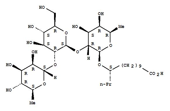 226891-54-9,Tetradecanoic acid,11-[(O-6-deoxy-a-L-mannopyranosyl-(1®2)-O-b-D-glucopyranosyl-(1®2)-6-deoxy-b-D-galactopyranosyl)oxy]-, (11S)-,Cuscuticacid A2