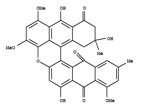 230645-59-7,Dinaphtho[2,3-a:3',2',1'-kl]xanthene-7,12,16(13H)-trione,14,15-dihydro-6,14,17-trihydroxy-1,3,8-trimethoxy-10,14-dimethyl-, (12bS,14R)-(9CI),AustroviridinA