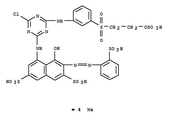 2,7-Naphthalenedisulfonicacid,5-[[4-chloro-6-[[3-[[2-(sulfooxy)ethyl]sulfonyl]phenyl]amino]-1,3,5-triazin-2-yl]amino]-4-hydroxy-3-[2-(2-sulfophenyl)diazenyl]-,sodium salt (1:4)(23354-52-1)