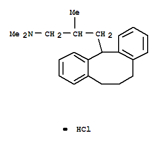 23485-63-4,Dibenzo[a,d]cyclooctene-12-propanamine,5,6,7,12-tetrahydro-N,N,b-trimethyl-, hydrochloride (1:1),Dibenzo[a,d]cyclooctene-12-propanamine,5,6,7,12-tetrahydro-N,N,b-trimethyl-, hydrochloride (9CI); Dibenzo[a,d]cyclooctene-12-propylamine,5,6,7,12-tetrahydro-N,N,b-trimethyl-, hydrochloride (7CI,8CI)