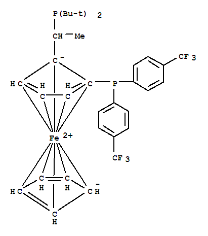 (R)-1-[(S)-2-Di-(4-trifluoroMethylphenylphos-phino)ferrocenyl]-ethyl-di-tert-butylphosphine, Manufactured by Solvias AG
