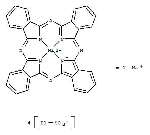 27835-99-0, Nickel(II) phthalocyanine-tetrasulfonic acid,Nickel,[tetrahydrogen phthalocyaninetetrasulfonato(2-)]-, tetrasodium salt (8CI);Nickelate(4-),[29H,31H-phthalocyanine-C,C,C,C-tetrasulfonato(6-)-N29,N30,N31,N32]-,tetrasodium;Nickelate(4-), [29H,31H-phthalocyanine-C,C,C,C-tetrasulfonato(6-)-kN29,kN30,kN31,kN32]-, tetrasodium (9CI);29H,31H-Phthalocyanine-C,C,C,C-tetrasulfonic acid, nickel complex;Nickel (II)phthalocyaninetetrasulfonic acid, tetrasodium salt;Tetrasulfonated nickelphthalocyanine sodium salt;