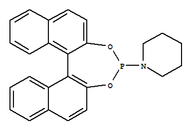 Molecular Structure of 284472-79-3 (Piperidine,1-(11bS)-dinaphtho[2,1-d:1',2'-f][1,3,2]dioxaphosphepin-4-yl-)