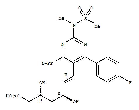 Molecular Structure of 287714-41-4 (Rosuvastatin)