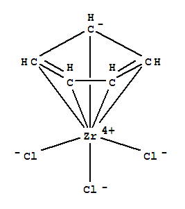 Molecular Structure of 34767-44-7 (Zirconium, trichloro(h5-2,4-cyclopentadien-1-yl)-)