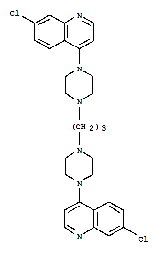 Molecular Structure of 4085-31-8 (Quinoline,4,4'-(1,3-propanediyldi-4,1-piperazinediyl)bis[7-chloro-)