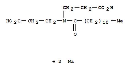 52900-31-9,b-Alanine,N-(2-carboxyethyl)-N-(1-oxododecyl)-, disodium salt (9CI),DisodiumN-lauroyl-b-iminodipropionate