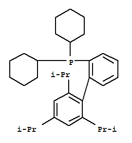 Molecular Structure of 564483-18-7 (Phosphine,dicyclohexyl[2',4',6'-tris(1-methylethyl)[1,1'-biphenyl]-2-yl]-)