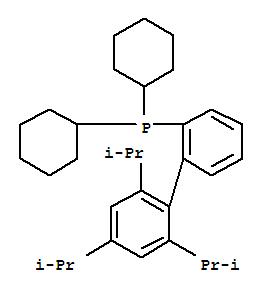 Molecular Structure of 564483-18-7 (Phosphine,dicyclohexyl[2',4',6'-tris(1-methylethyl)[1,1'-biphenyl]-2-yl]-)