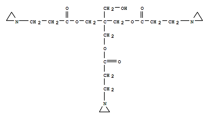 Molecular Structure of 57116-45-7 (1-Aziridinepropanoicacid,1,1'-[2-[[3-(1-aziridinyl)-1-oxopropoxy]methyl]-2-(hydroxymethyl)-1,3-propanediyl]ester)