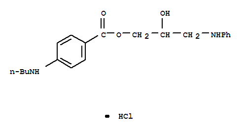 100311-25-9,Benzoic acid,4-(butylamino)-, 2-hydroxy-3-(phenylamino)propyl ester, hydrochloride (1:1),Benzoicacid, 4-(butylamino)-, 2-hydroxy-3-(phenylamino)propyl ester, monohydrochloride(9CI)