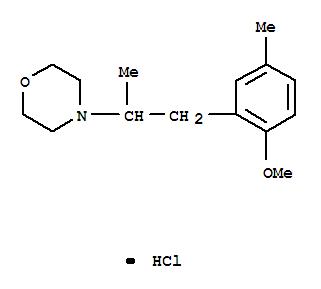 101356-61-0,Morpholine,4-[2-(2-methoxy-5-methylphenyl)-1-methylethyl]-, hydrochloride (1:1),Morpholine,4-(2-methoxy-a,5-dimethylphenethyl)-,hydrochloride (6CI)