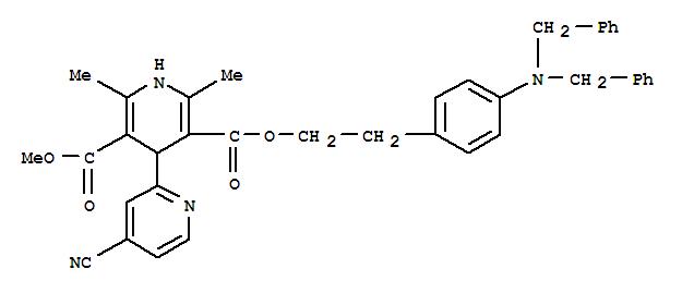 116308-47-5,[2,4'-Bipyridine]-3',5'-dicarboxylicacid, 4-cyano-1',4'-dihydro-2',6'-dimethyl-,3'-[2-[4-[bis(phenylmethyl)amino]phenyl]ethyl] 5'-methyl ester,[2,4'-Bipyridine]-3',5'-dicarboxylicacid, 4-cyano-1',4'-dihydro-2',6'-dimethyl-,2-[4-[bis(phenylmethyl)amino]phenyl]ethyl methyl ester (9CI)