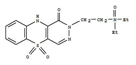 126598-48-9,1H-Pyridazino[4,5-b][1,4]benzothiazin-1-one,2-[2-(diethyloxidoamino)ethyl]-2,10-dihydro-, 5,5-dioxide,1H-Pyridazino[4,5-b][1,4]benzothiazin-1-one,2-[2-(diethylamino)ethyl]-2,10-dihydro-, N,5,5-trioxide