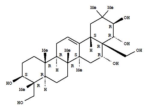 13844-22-9,Olean-12-ene-3,16,21,22,23,28-hexol,(3b,4a,16a,21b,22a)- (9CI),Olean-12-ene-3b,16a,21b,22a,23,28-hexol (8CI); TheasapogenolA