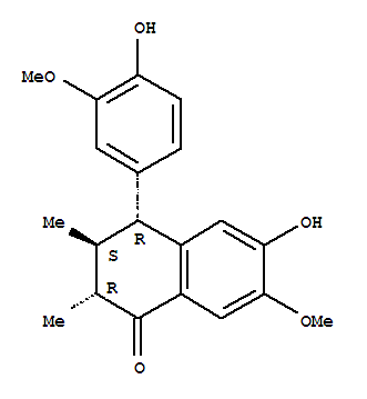 117047-77-5,1(2H)-Naphthalenone,3,4-dihydro-6-hydroxy-4-(4-hydroxy-3-methoxyphenyl)-7-methoxy-2,3-dimethyl-,(2R,3S,4R)-,1(2H)-Naphthalenone,3,4-dihydro-6-hydroxy-4-(4-hydroxy-3-methoxyphenyl)-7-methoxy-2,3-dimethyl-,[2R-(2a,3b,4a)]-; Wulignan A2
