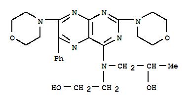 14343-29-4,2-Propanol,1-[(2,7-di-4-morpholinyl-6-phenyl-4-pteridinyl)(2-hydroxyethyl)amino]-,2-Propanol,1-[(2,7-dimorpholino-6-phenyl-4-pteridinyl)(2-hydroxyethyl)amino]- (8CI); RE86BS