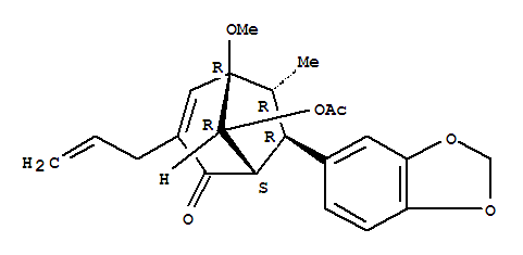 Bicyclo[3.2.1]oct-3-en-2-one,8-(acetyloxy)-7-(1,3-benzodioxol-5-yl)-5-methoxy-6-methyl-3-(2-propen-1-yl)-,(1S,5R,6R,7R,8R)-