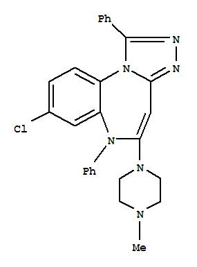 153901-59-8,6H-[1,2,4]Triazolo[4,3-a][1,5]benzodiazepine,8-chloro-5-(4-methyl-1-piperazinyl)-1,6-diphenyl-,