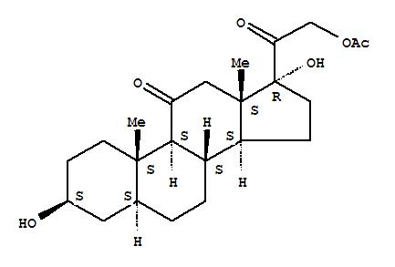 1856-12-8,5a-Pregnane-11,20-dione, 3b,17,21-trihydroxy-, 21-acetate(6CI,7CI,8CI),NSC18292; NSC 73752