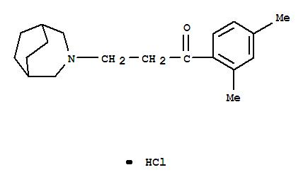 1887-97-4,1-Propanone,3-(3-azabicyclo[3.2.2]non-3-yl)-1-(2,4-dimethylphenyl)-, hydrochloride (1:1),Propiophenone,3-(3-azabicyclo[3.2.2]non-3-yl)-2',4'-dimethyl-, hydrochloride (7CI,8CI); NSC95469
