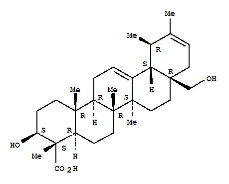 Molecular Structure of 191669-59-7 (Ursa-12,20-dien-23-oicacid, 3,28-dihydroxy-, (3b,4a)- (9CI))