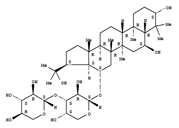 214059-75-3,a-L-Arabinopyranoside, (3b,6a,16b)-3,6,22-trihydroxy-A'-neogammaceran-16-yl 3-O-b-D-xylopyranosyl- (9CI),SucculentosideF