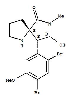 226993-86-8,1,7-Diazaspiro[4.4]nonan-6-one,9-(2,4-dibromo-5-methoxyphenyl)-8-hydroxy-7-methyl-, (5S,8R,9R)-,AmathaspiramideC