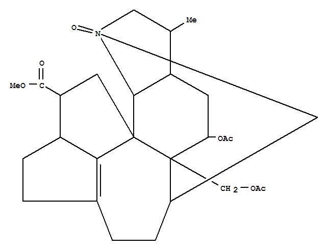 24148-90-1,4H-1,6-Methanopentaleno[1',6':2,3,4]cyclohept[1,2-g]indole-11-carboxylicacid,5-(acetyloxy)-5a-[(acetyloxy)methyl]-2,3,3a,5,5a,6,7,8,9,10,10a,11,12,12b-tetradecahydro-3-methyl-,1-oxide, (1S,3S,3aR,5R,5aS,6S,10aS,11S,12aR,12bR)-,Yuzurimine,2-deoxy-, 1-oxide;4H-1,6-Methanopentaleno[1',6':2,3,4]cyclohept[1,2-g]indole-11-carboxylic acid,5-(acetyloxy)-5a-[(acetyloxy)methyl]-2,3,3a,5,5a,6,7,8,9,10,10a,11,12,12b-tetradecahydro-3-methyl-,1-oxide, [1S-(1a,3a,3aa,5b,5aa,6b,10aa,11b,12aS*,12ba)]-; Macrodaphnine