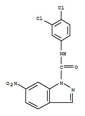 24240-41-3,1H-Indazole-1-carboxamide,N-(3,4-dichlorophenyl)-6-nitro-,1H-Indazole-1-carboxanilide,3',4'-dichloro-6-nitro- (8CI)