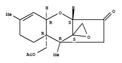 2619-59-2,Trichothec-9-en-3-one,15-(acetyloxy)-12,13-epoxy- (9CI),Scirpen-3-one,15-hydroxy-, acetate (7CI); Trichothec-9-en-3-one, 12,13-epoxy-15-hydroxy-,acetate (8CI); Spiro[2,5-methano-1-benzoxepin-10,2'-oxirane],trichothec-9-en-3-one deriv.; NSC 297275