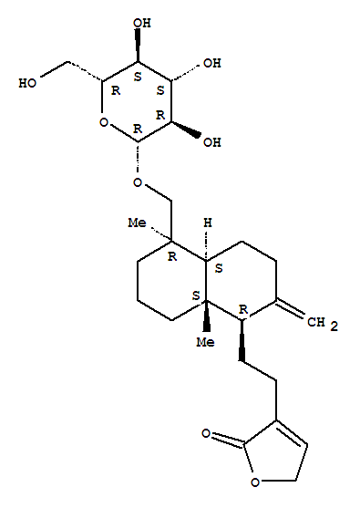 Molecular Structure of 27215-14-1 (Neoandrographolide)
