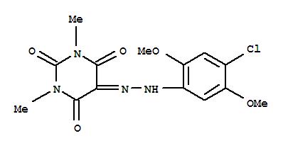 30201-54-8,2,4,5,6(1H,3H)-Pyrimidinetetrone,1,3-dimethyl-, 5-[2-(4-chloro-2,5-dimethoxyphenyl)hydrazone],Alloxan,1,3-dimethyl-, 5-[(4-chloro-2,5-dimethoxyphenyl)hydrazone] (8CI); NSC 134376