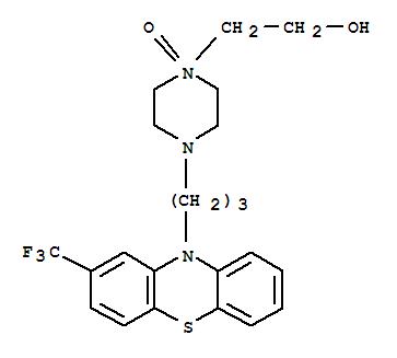 30897-25-7,1-Piperazineethanol,4-[3-[2-(trifluoromethyl)-10H-phenothiazin-10-yl]propyl]-, 1-oxide,1-Piperazineethanol,4-[3-[2-(trifluoromethyl)phenothiazin-10-yl]propyl]-, 1-oxide (8CI);Fluphenazine N4'-oxide