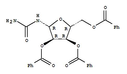 31652-77-4,Urea,(2,3,5-tri-O-benzoyl-b-D-ribofuranosyl)- (9CI),Urea,b-D-ribofuranosyl-,2',3',5'-tribenzoate (8CI); Urea, b-D-ribofuranosyl-, tribenzoate (7CI); NSC 174276