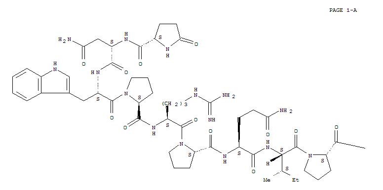 35115-61-8,L-Proline,5-oxo-L-prolyl-L-asparaginyl-L-tryptophyl-L-prolyl-L-arginyl-L-prolyl-L-glutaminyl-L-isoleucyl-L-prolyl-,L-Proline,1-[1-[N-[N2-[1-[N2-[1-[N-[N2-(5-oxo-L-prolyl)-L-asparaginyl]-L-tryptophyl]-L-prolyl]-L-arginyl]-L-prolyl]-L-glutaminyl]-L-isoleucyl]-L-prolyl]-;Evasin 10b; SQ 20861