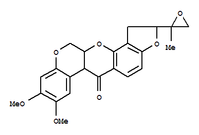 36375-25-4,[1]Benzopyrano[3,4-b]furo[2,3-h][1]benzopyran-6(6aH)-one,1,2,12,12a-tetrahydro-8,9-dimethoxy-2-(2-methyl-2-oxiranyl)-,[1]Benzopyrano[3,4-b]furo[2,3-h][1]benzopyran-6(6aH)-one,1,2,12,12a-tetrahydro-8,9-dimethoxy-2-(2-methyloxiranyl)- (9CI);6',7'-Epoxyrotenone