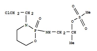 40722-71-2,2-Propanol,1-[[3-(2-chloroethyl)tetrahydro-2-oxido-2H-1,3,2-oxazaphosphorin-2-yl]amino]-,methanesulfonate (ester) (9CI),2-Propanol,1-[[3-(2-chloroethyl)tetrahydro-2H-1,3,2-oxazaphosphorin-2-yl]amino]-,methanesulfonate (ester), P-oxide;2H-1,3,2-Oxazaphosphorine, 2-propanol deriv.;