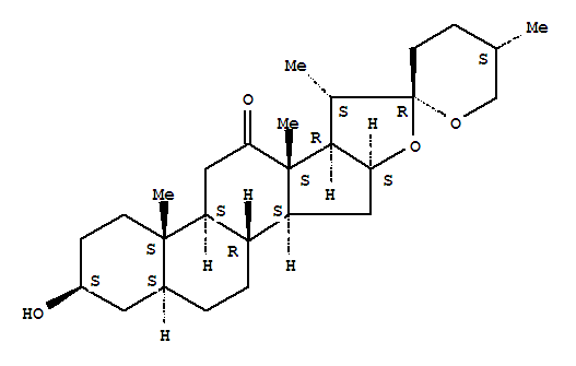 Molecular Structure of 509-99-9 (Spirostan-12-one,3-hydroxy-, (3b,5a,25S)- (9CI))